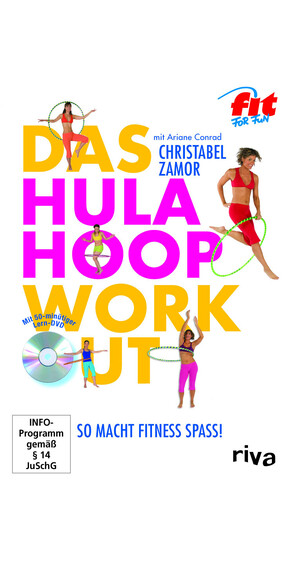 riva The Hula-Hoop-Workout Fitness Books yellow/pink